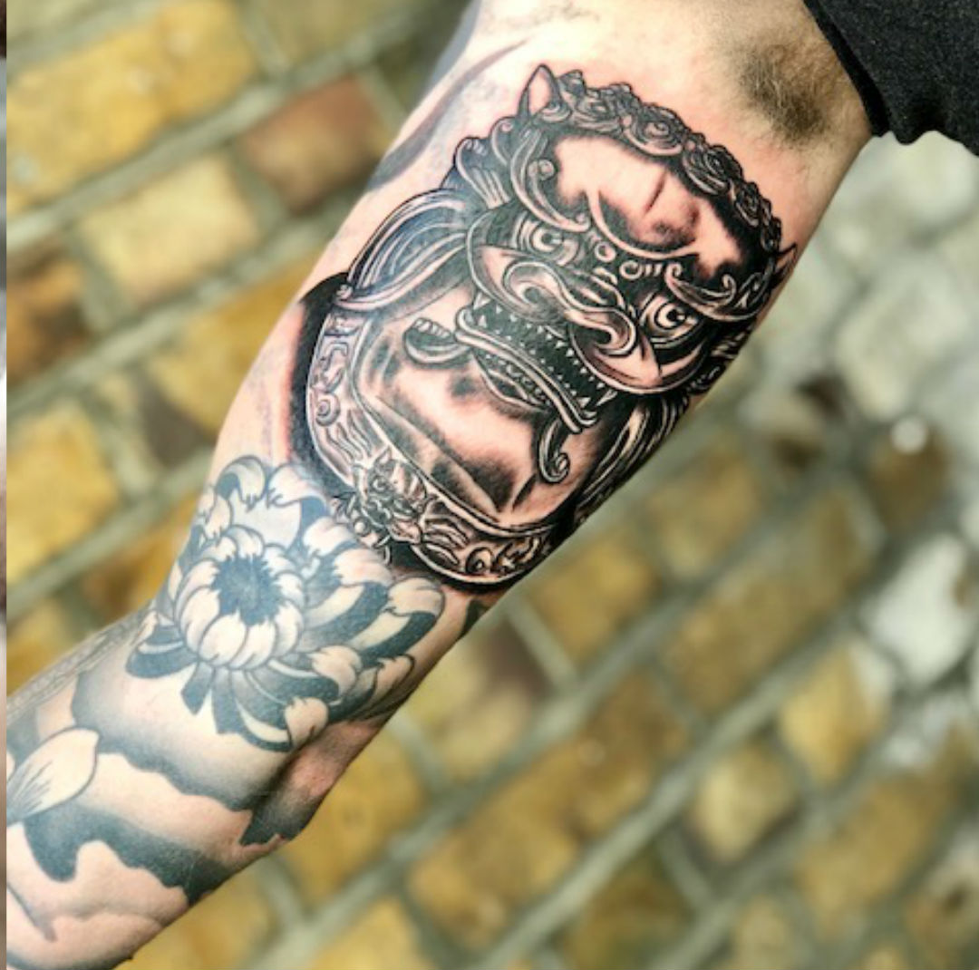 Japanese tattoo design from a tattoo studio in Essex