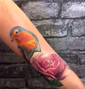 water colour tattoo design from a tattoo studio in the UK